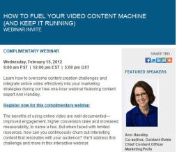 Fuel Your Video Content - Reuters Webinar
